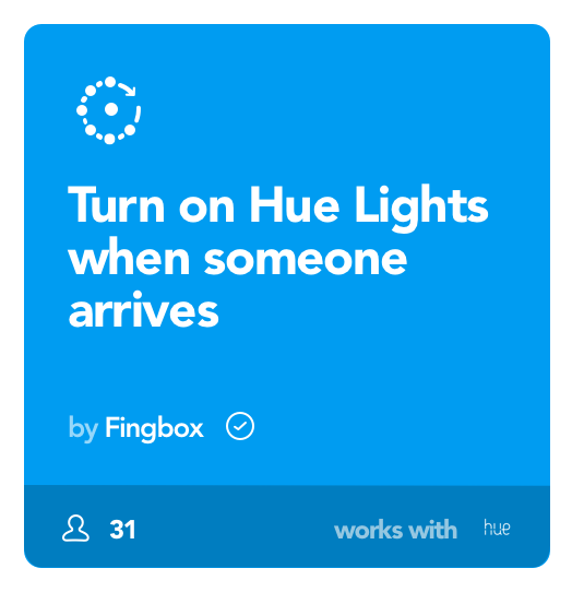 Image of Hues Lights automation with Fingbox